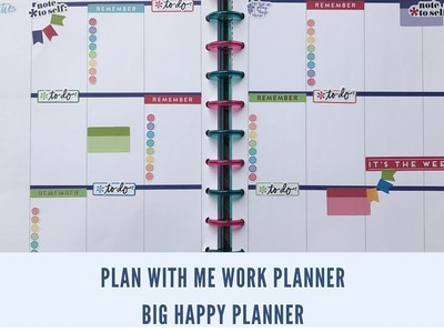 Plan With Me. BIG Happy Planner. Work Edition June 12-16