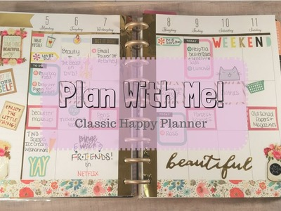 Plan With Me! | The Happy Planner | Talk-Through.Chit Chat