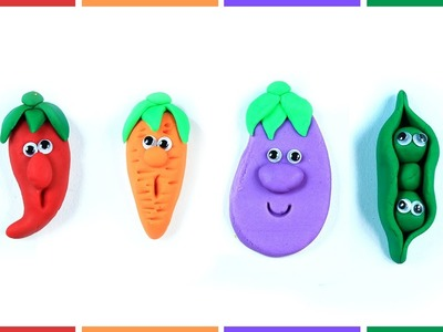 Play Doh (Clay) Vegetables - Teach Your Kids Vegetable Names with Fun
