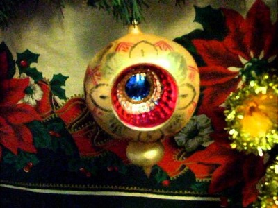 Polish Glass Christmas balls from the 1950s- medium to large sizes