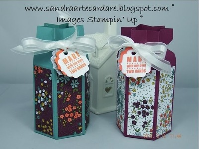 PRETTY GIFT BOX for Preserves - SandraR UK Stampin' Up! Demonstrator Independent