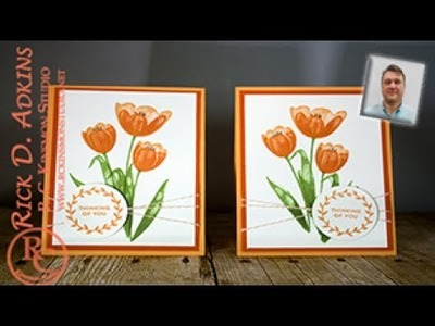 Quick & Easy Tulip Card with the Shadow Stamping Technique featuring Tranquil Tulips