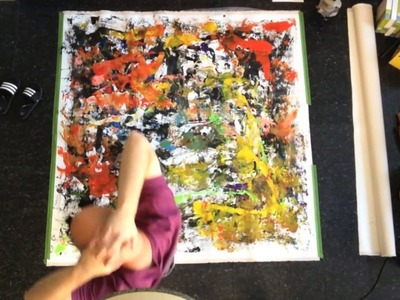 Shawn McNulty Artist Timelapse Art Process Painting Feet Abstract Modern Limbo
