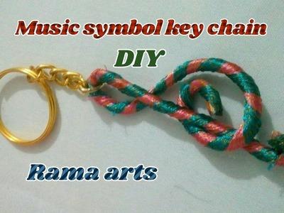 Silk thread Music symbol key chain - How to make key chain