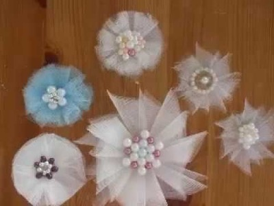 Tulle Flowers Tutorial (nice and easy) copy
