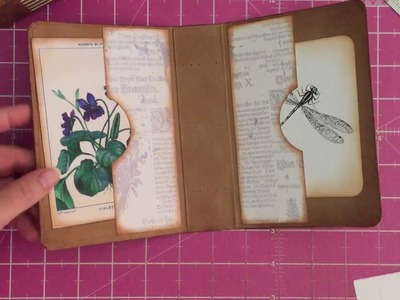 Tutorial: How to neatly align the holes in a journal cover for binding