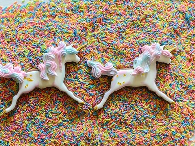 Unicorn Sugar Cookies Tutorial Video