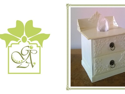 Vintage Victorian Chest Style Painted Tissue Box Container © (Gift Ideas Tutorial)