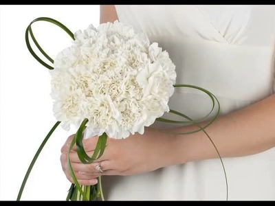 White Carnation Flower Bouquet Beautiful Picture Collection Set And Ideas
