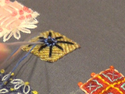Woven Spider Web Circle Embroidery Stitch