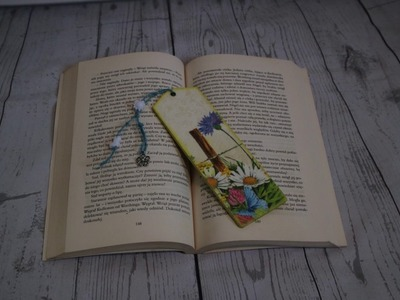 #13. BOOKMARK. DIY. DECOUPAGE. ZAKŁADKI. SUOMI. TUTORIAL