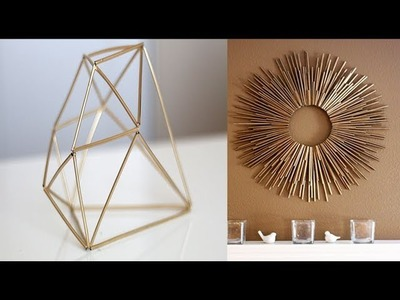 3 Super Easy DIY Straw Home Decor | Projects With Drinking Straws You Need To Try 2017