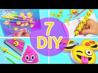 5 Minute Crafts To Do When You're BORED! 7 DIY Emoji Projects! Amazing DIYs & Craft Hacks!