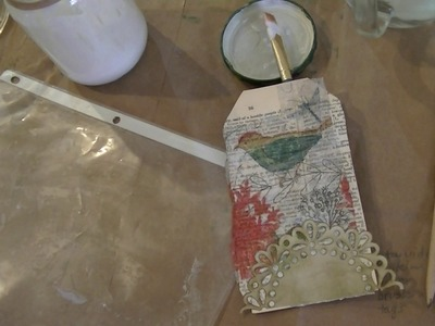 Answering some questions you might have with Napkin Decoupage on a tag