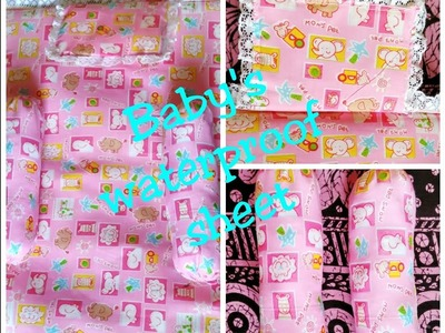Baby sheet and side pillows making with sponge