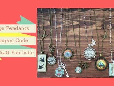 Beautiful Image Pendants from Craft Fantastic Tutorial + Coupon Code - DIY Jewelry