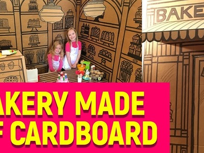 Building And Drawing A Huge Cardboard Box Bakery For Kids (DIY and time-lapse)