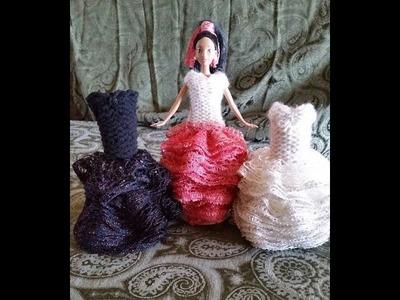 "CinDwood Looms 11.5"" Doll Ruffle Dress Tutorial"