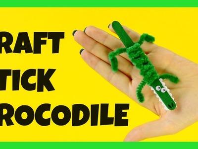 Craft Stick Crocodile Craft - fun craft stick ideas for kids