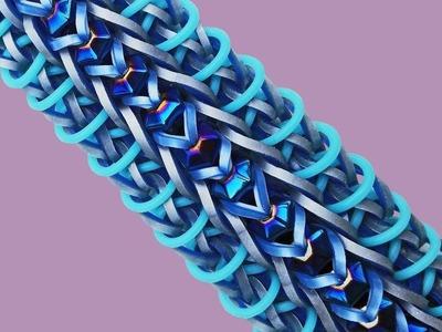 """Cute & Fun DIY Rainbow Loom by Deb's Thing """"SUGAR BUGAR """" Bracelet Jewelry How To Tutorial (ref #5f)"""