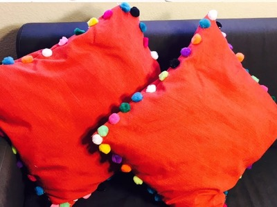 DIY Cushion Cover from Old Table Cloth || No Sew