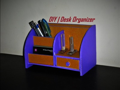DIY | Desk Organizer. Made with Cardboard | Room Decor Idea |