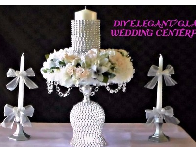 DIY ELEGANT.GLAM WEDDING CENTERPIECE