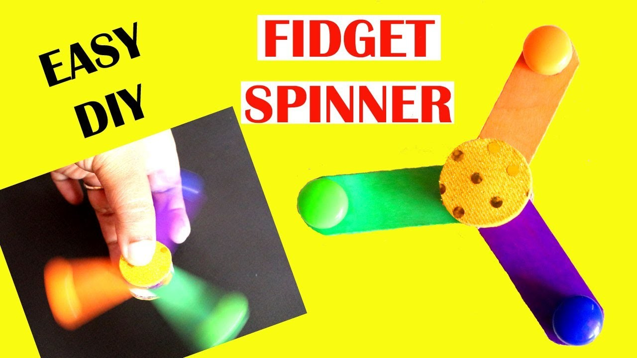 DIY Fidget Spinner without Bearings | How to Make Step by Step | Little Carfties