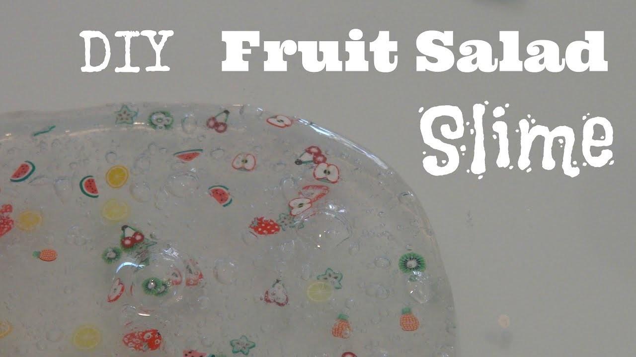 DIY Fruit Salad Slime   BEST Clear Slime Recipe!