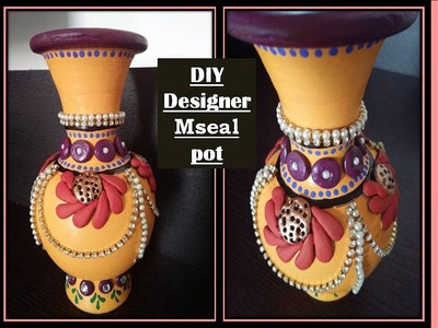DIY, how to make designer pot using mseal. .room decor