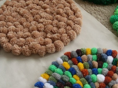 ♥DIY♥ Meine Schönsten Pompon Teppiche & Kissen - Diy My Most Beautiful Pompon Rugs & pillows
