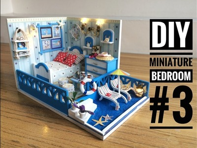 DIY Miniature Bedroom Kit #3 'Seashine Aegean' with a Private Beach ('阳光爱琴海' DIY 小屋)