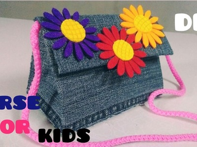 DIY Old Jeans Purse for Kids | No Sew