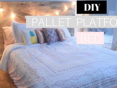 DIY PALLET PLATFORM BED|  PINTEREST TUMBLR INSPIRED