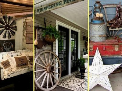 ❤DIY Rustic Farmhouse style Porch Decor Ideas | Home decor & Interior design || Flamingo mango||❤