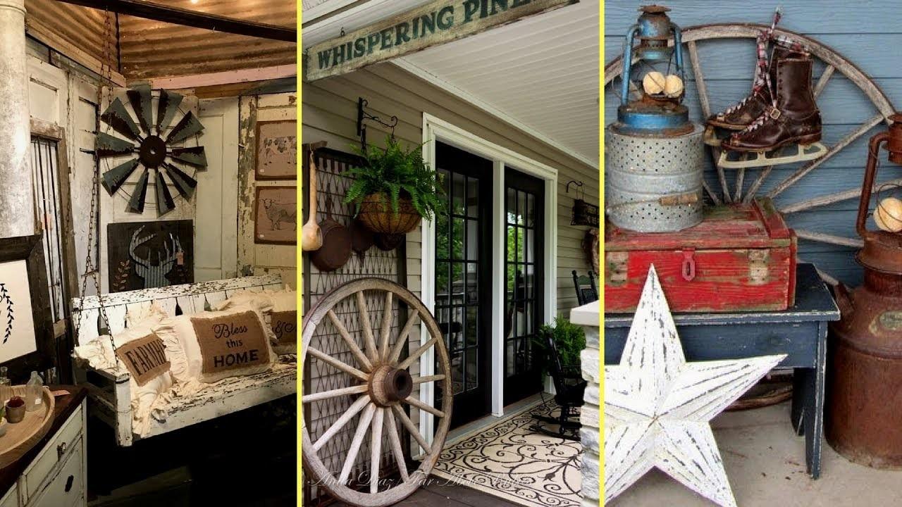 ❤DIY Rustic Farmhouse style Porch Decor Ideas   Home decor & Interior design    Flamingo mango  ❤