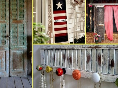 ❤ DIY Shabby chic shutter decorating ideas-farmhouse style. Interior Design. Flamingo  mango.❤