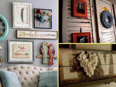 ❤DIY Shabby chic style Wall Art and room decor I  Home decor & Interior design 2017| Flamingo Mango❤