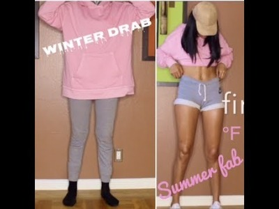 DIY Sweat Shorts: Turn Winter Drab to Summer Fab in minutes!