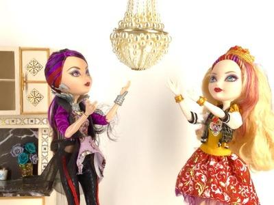 DIY Working Doll Chandelier || Dollhouse Miniature Crafts