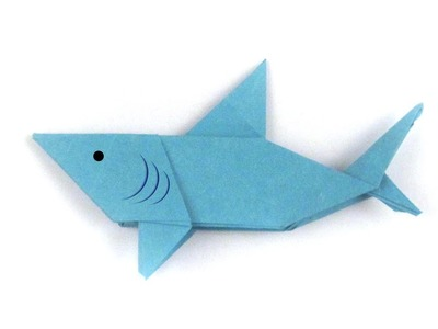 Easy Origami Shark - Origami Easy Tutorial - How to make an origami Shark