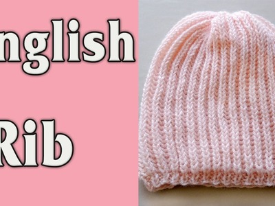English Rib Knitted Beanie Hat for a girl.