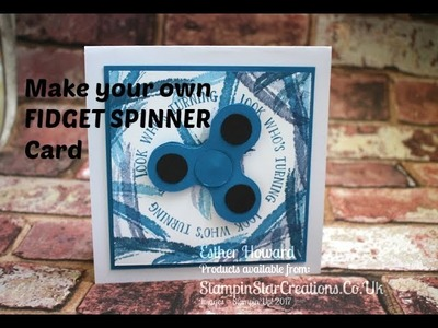 Fidget Spinner Card using Stampin up Number of Years Stamps with Esther from Stampin Star Creations