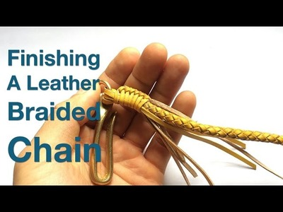Finishing a Leather Braided Chain