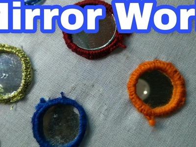 Hand embroidery designs, mirror work   HMA##006