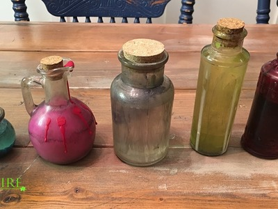 How To Create your own potion bottles for Halloween