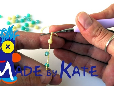 How to crochet a chain with beads - How to crochet a necklace