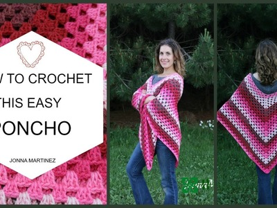 HOW TO CROCHET THIS EASY PONCHO