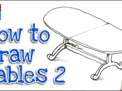 How to Draw A Dining Table Real Easy - Step by Step  #2