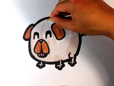 How to Draw a Pug (cute) - Easy Pictures to Draw Now